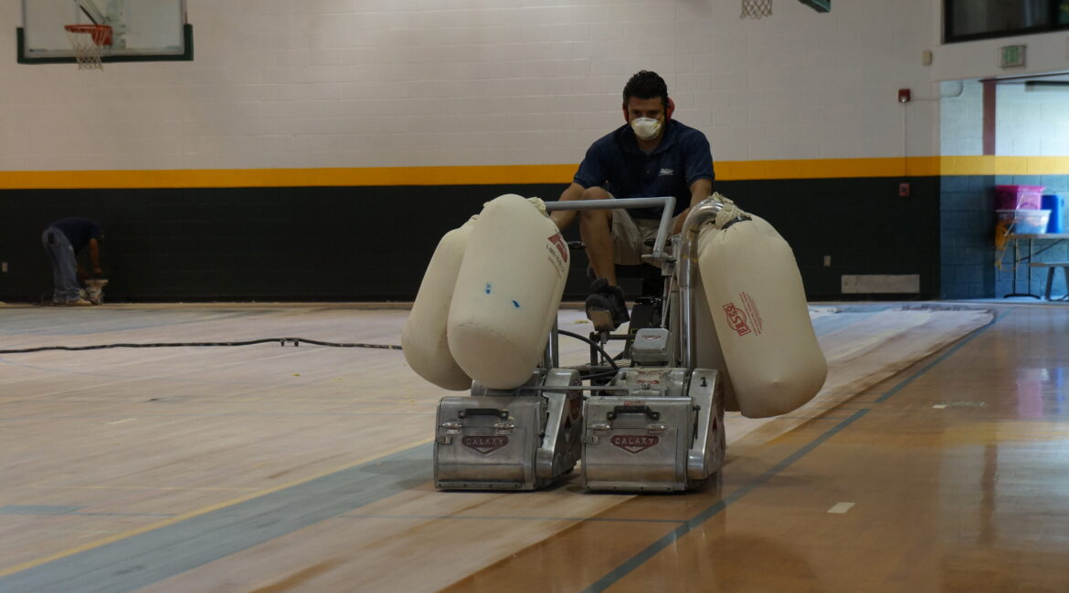 Gym Floor Resurfacing