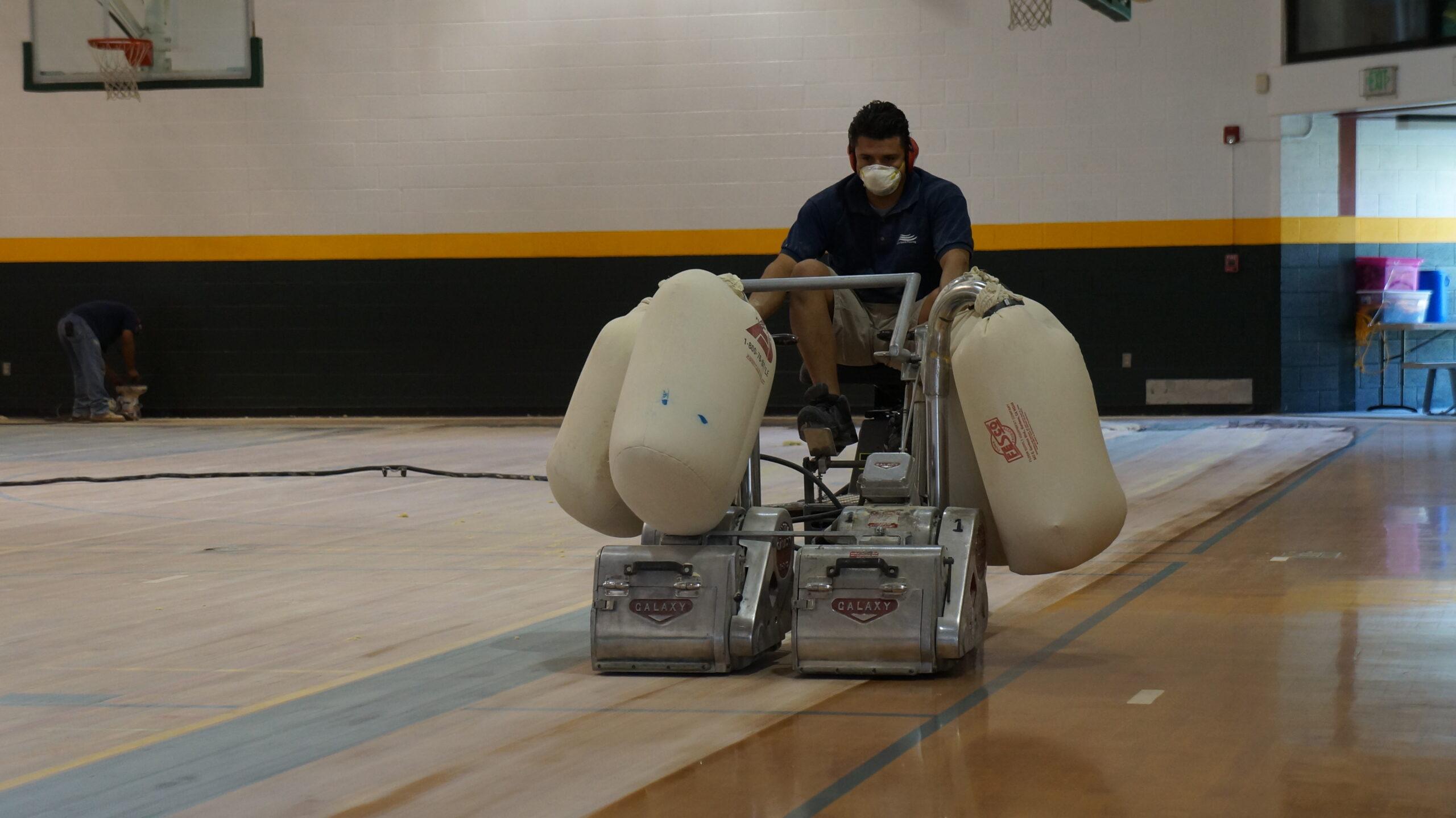 Gym Floor Resurfacing